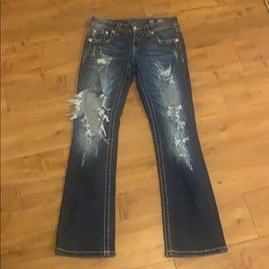 MISS ME Signature Slim Boot Cut Jeans 26x30 petite